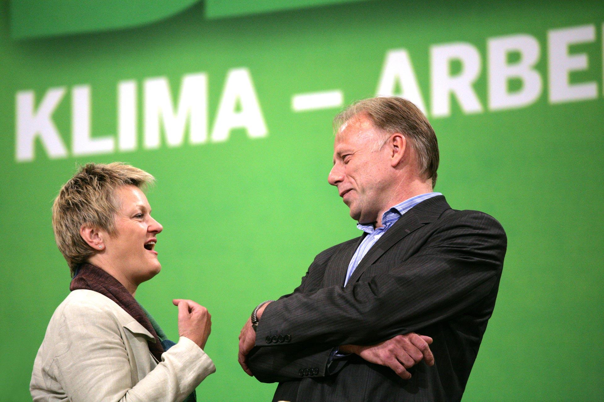 Renate Künast und Jürgen Trittin auf dem Bundesparteitag in Berlin /BÜNDNIS 90 - DIE GRÜNEN /BÜNDNIS 90 - DIE GRÜNEN