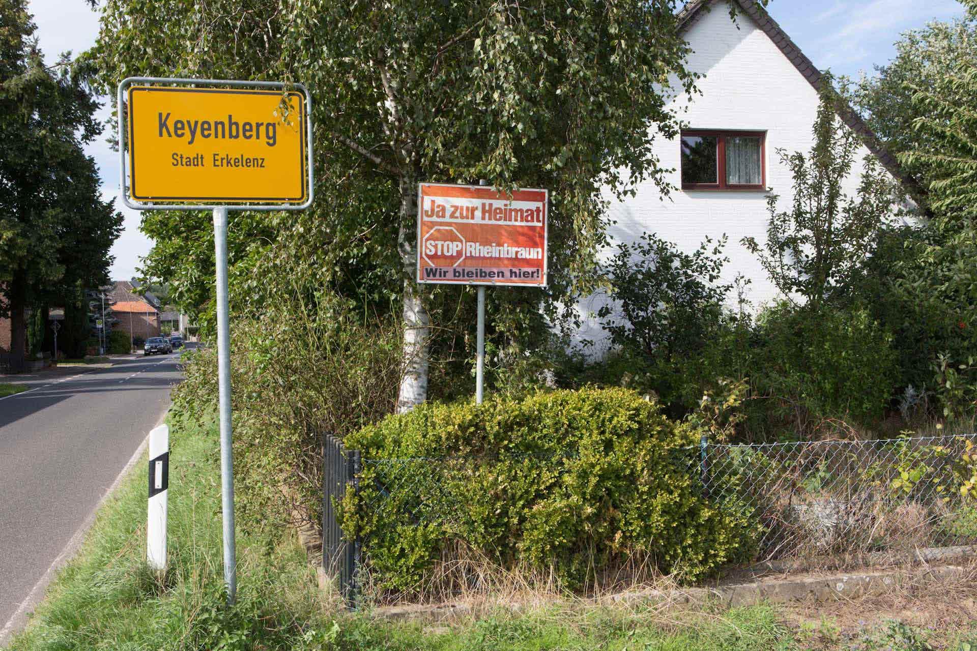 Auch in Keyenberg hat die Umsiedlung begonnen, bis spätestens 2025 soll das Dorf dem Tagebau Garzweiler II weichen