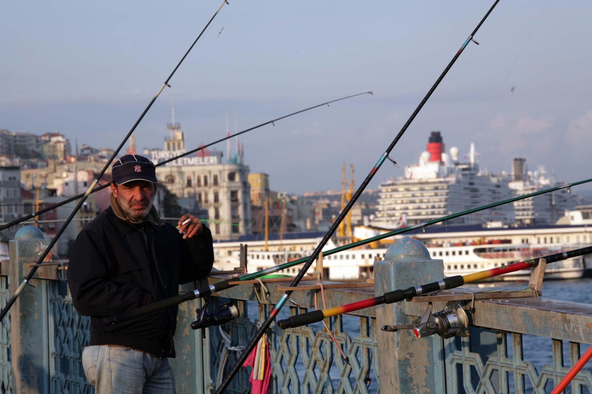 Fishing on the Galata Bridge