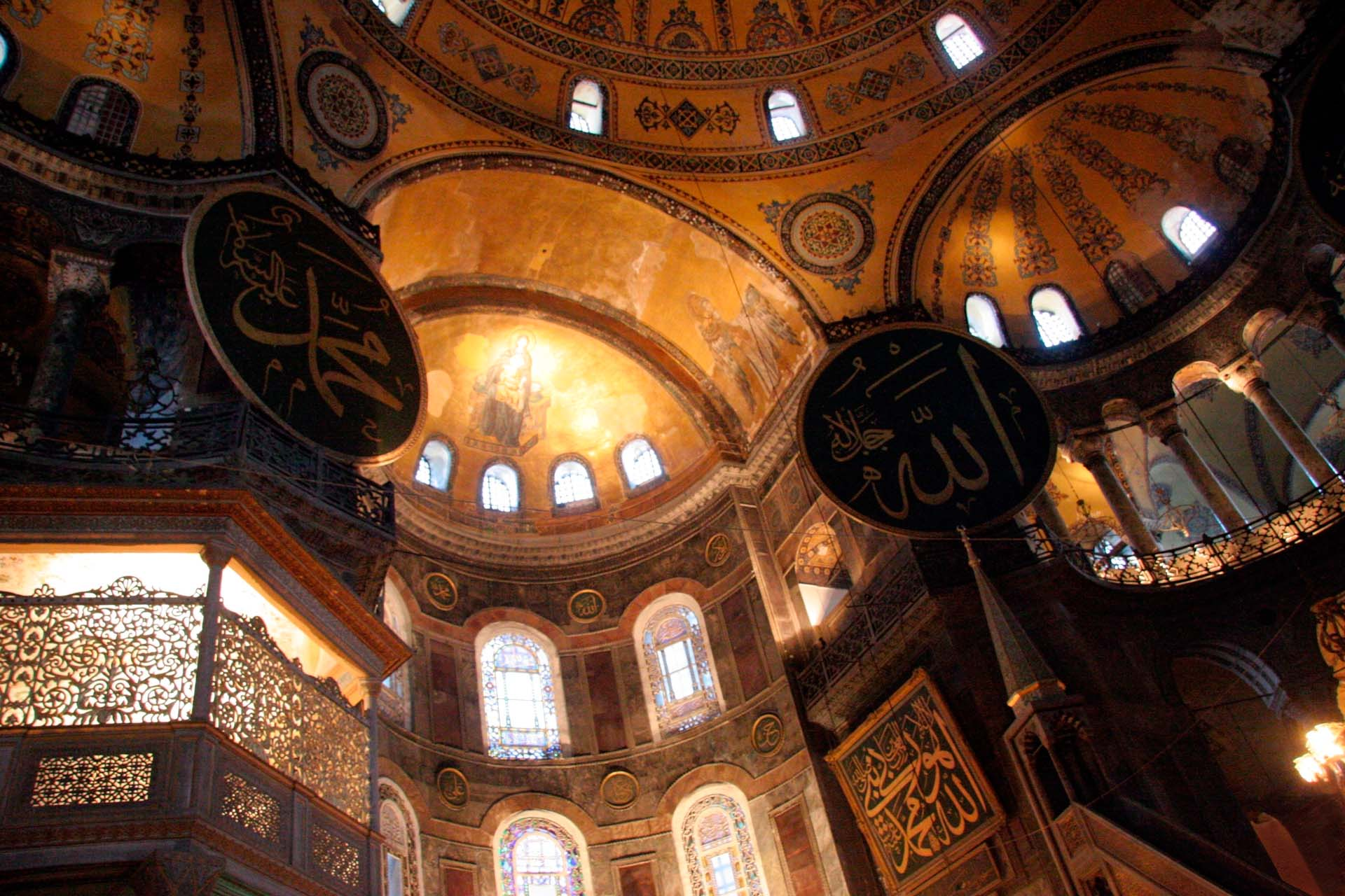 Hagia Sophia, constructed in 537 AD, later converted into an Ottoman mosque, from 1453 until 1931, today is a museum. RTE want to turn it into a mosque again...