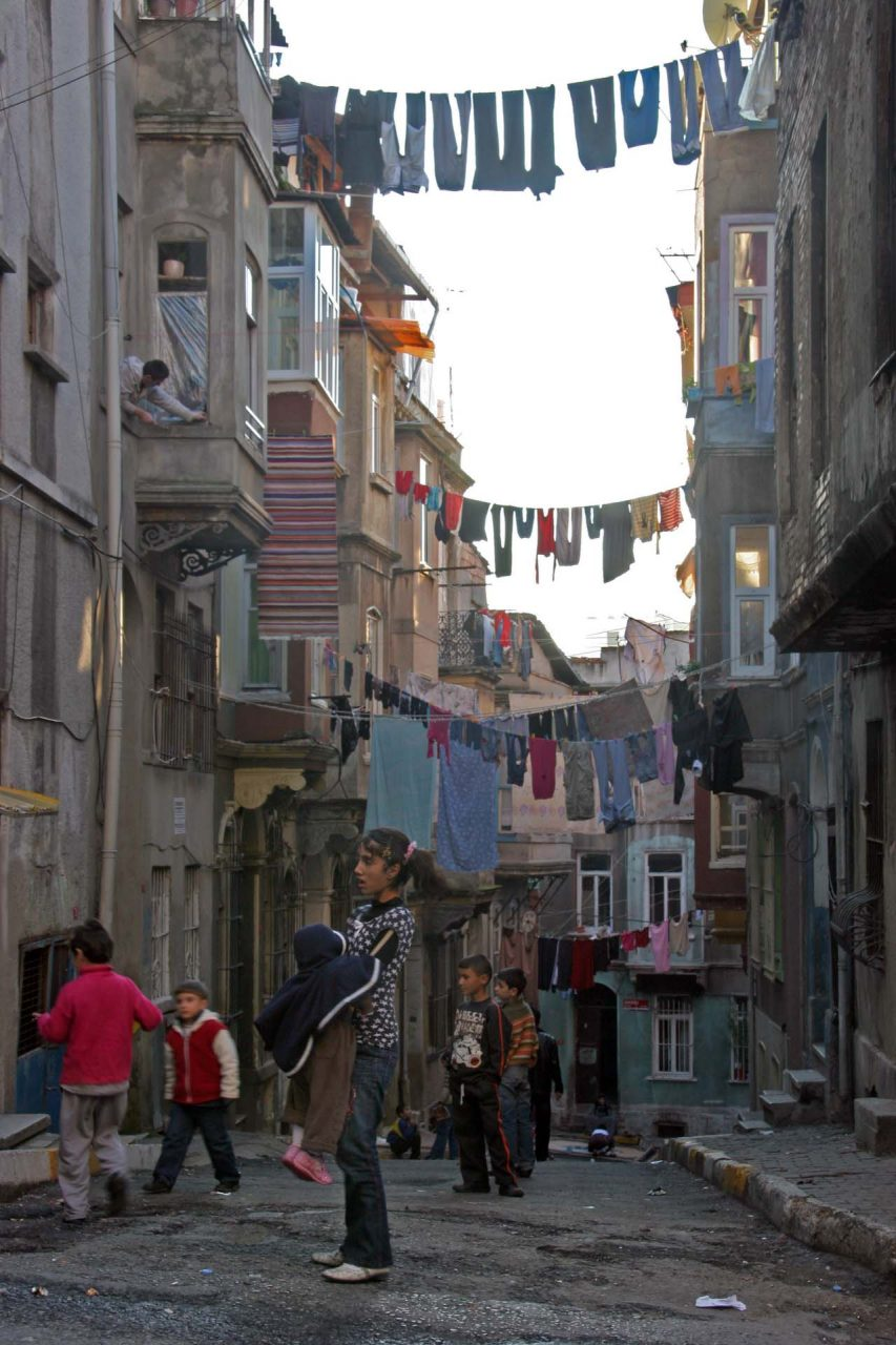Every day is washing day, poor neighbourhood in Tarlabaşı