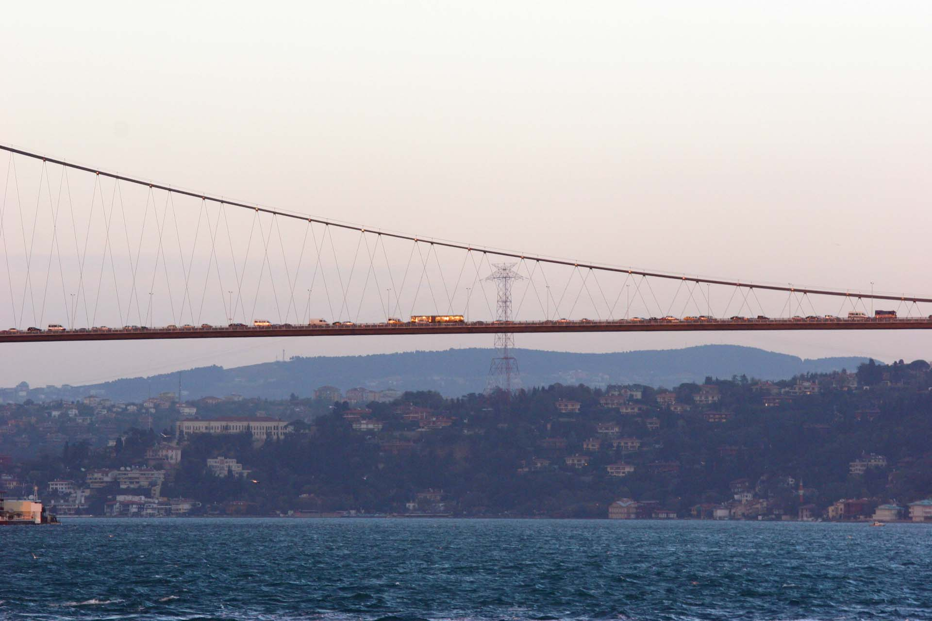 The first (of three) modern bridges connecting Europe and Asia, the Boğaz Köprüsü opened in 1973