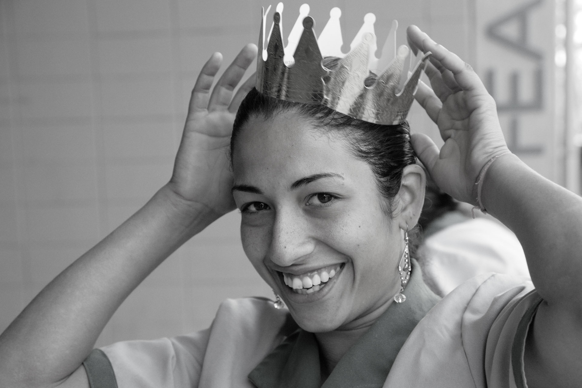 Crowned service maid at the BIEN Congress in São Paulo in 2010, Brazil. -
