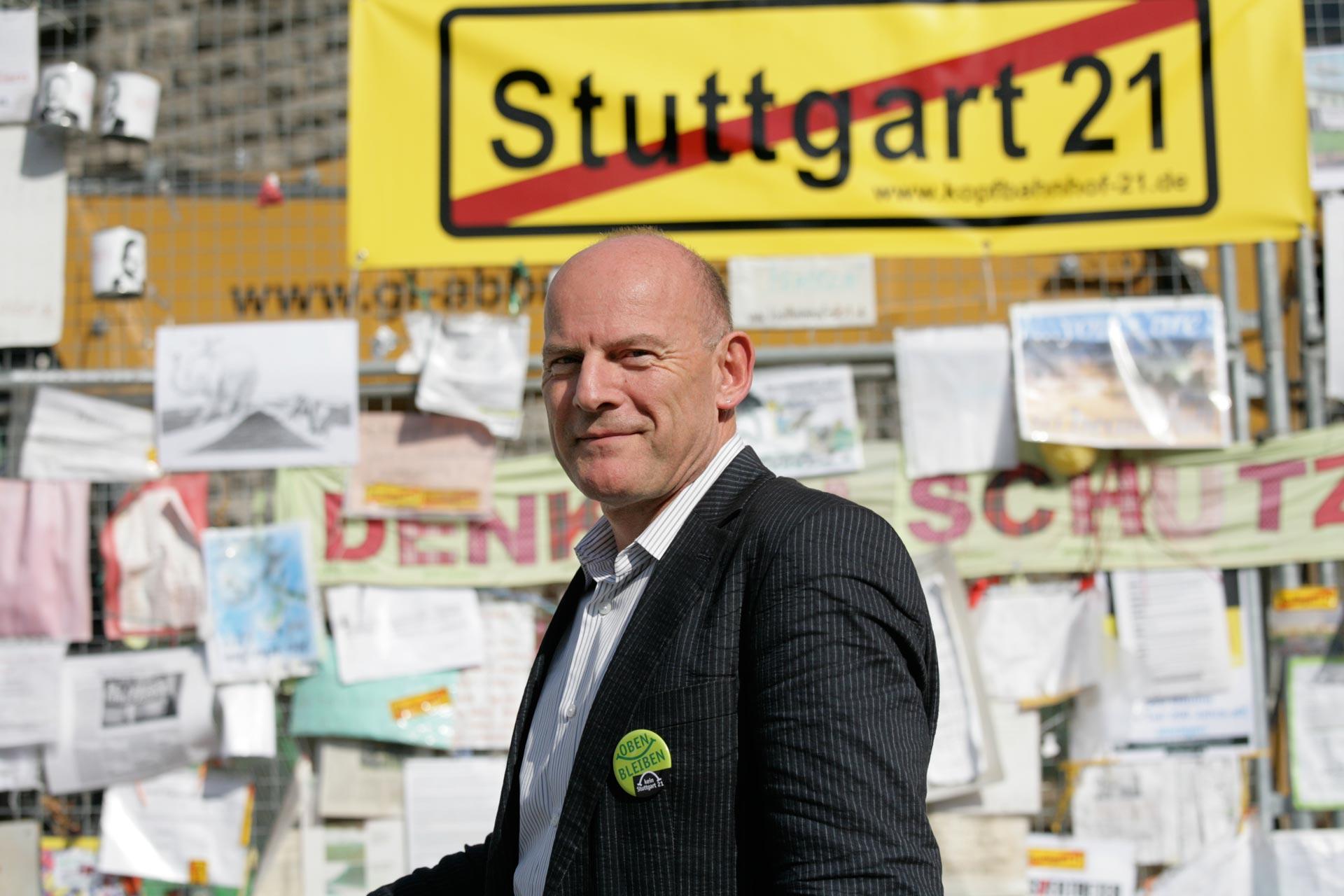 Winfried Hermann, hier in 2010, überzeugter Gegner von 'Stuttgart 21' ist seit Mai 2011 Minister für Verkehr und Infrastruktur in Baden-Württemberg.
