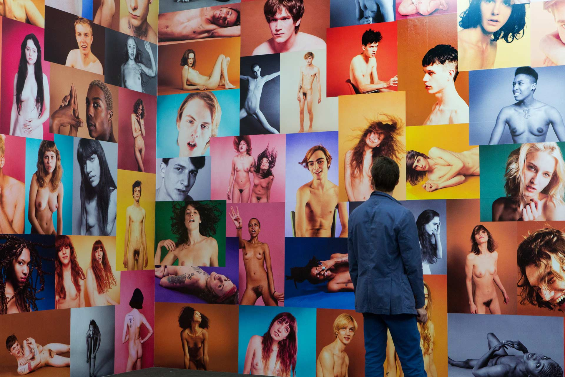 "Art Unlimited 2015: Ryan McGinley, ""Yearbook"", 2014, 500 nude studio portraits with 200 models"