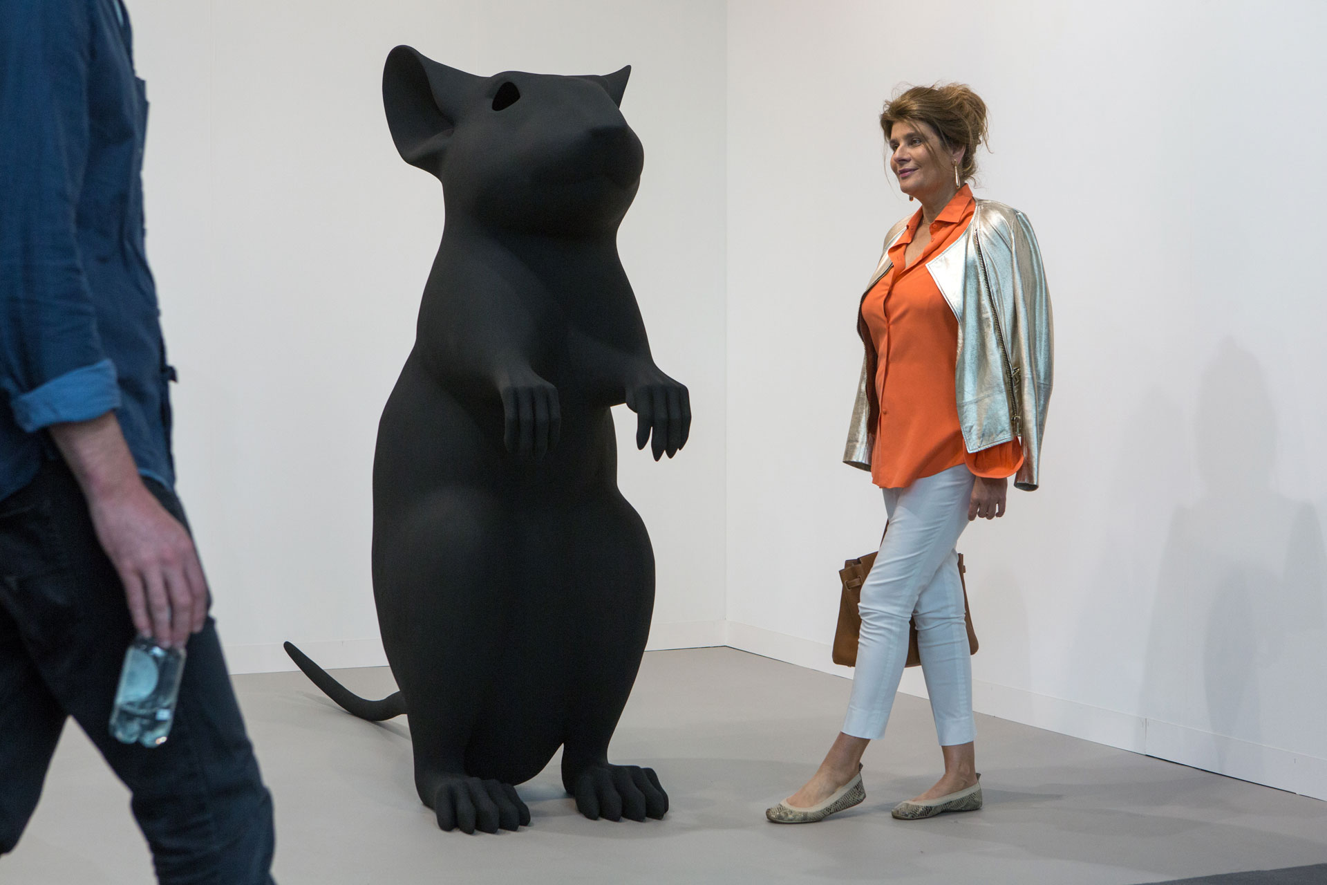 "Art Basel 2015: Katharina Fritsch, ""Hohle Maus"", 1992/2015, polyester and paint – The sculpture was already sold for $1,200,000"