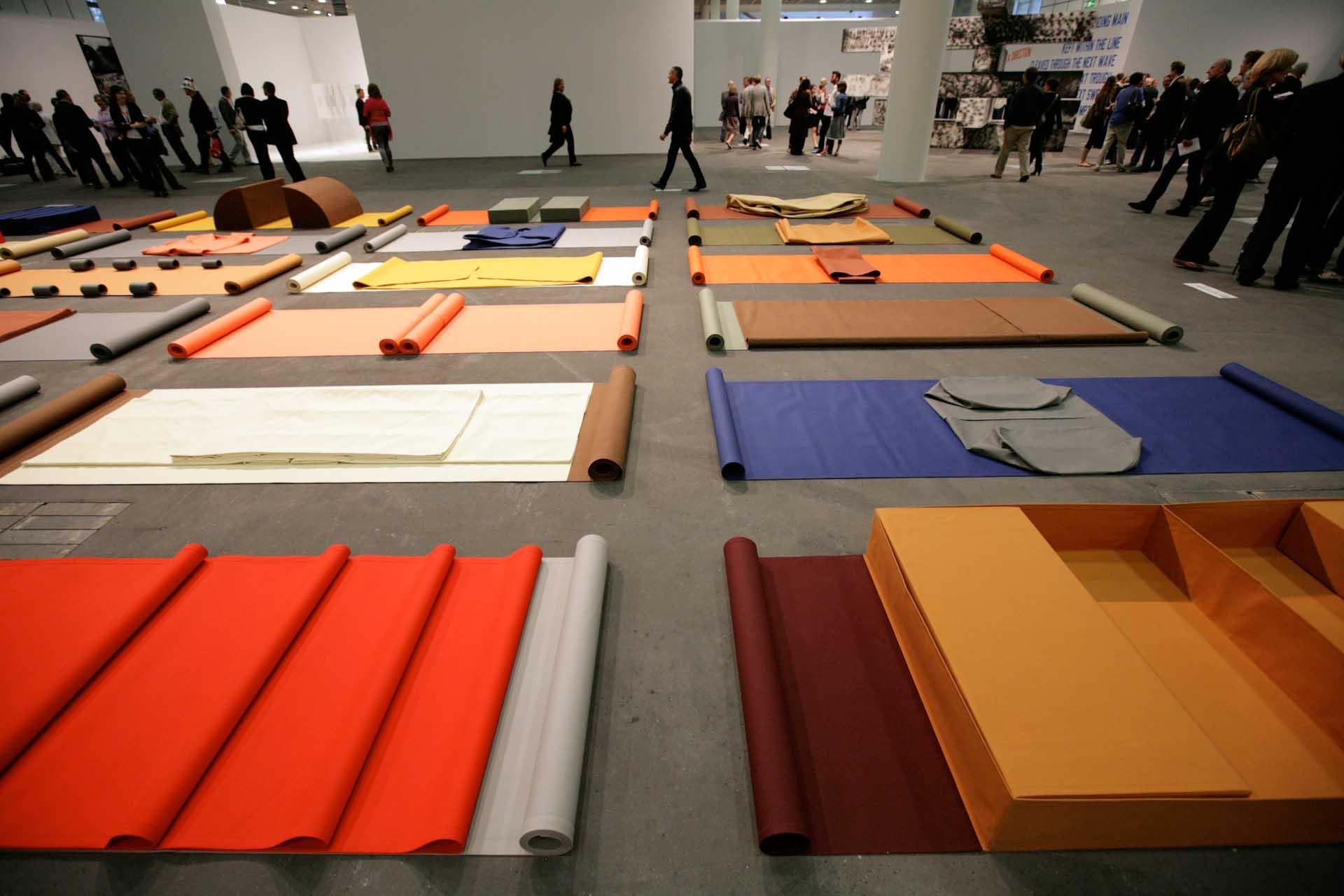 """Art 40, 2009: """"Handlungsbahnen"""" by Franz Erhard Walther"""