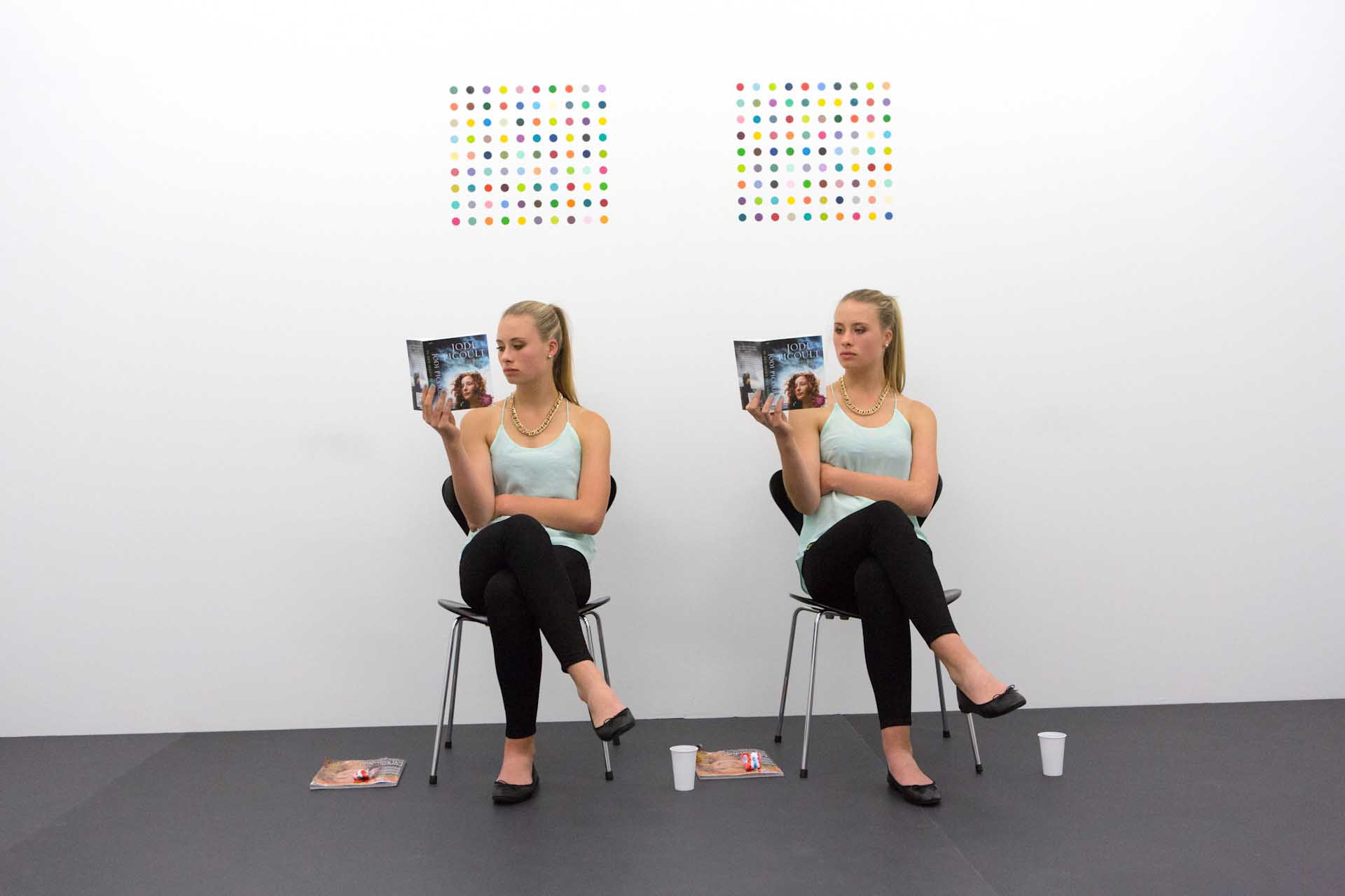 "Live Art Show ""14 rooms"", 2014: A performance with twins by Damien Hirst"