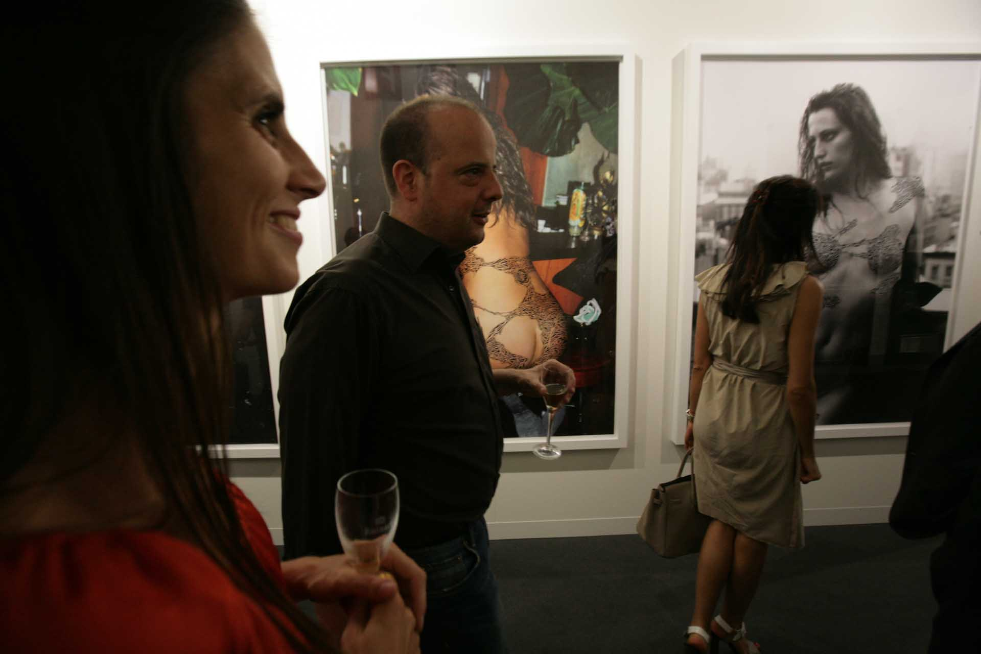 Vernissage audience at Art 42, 2011