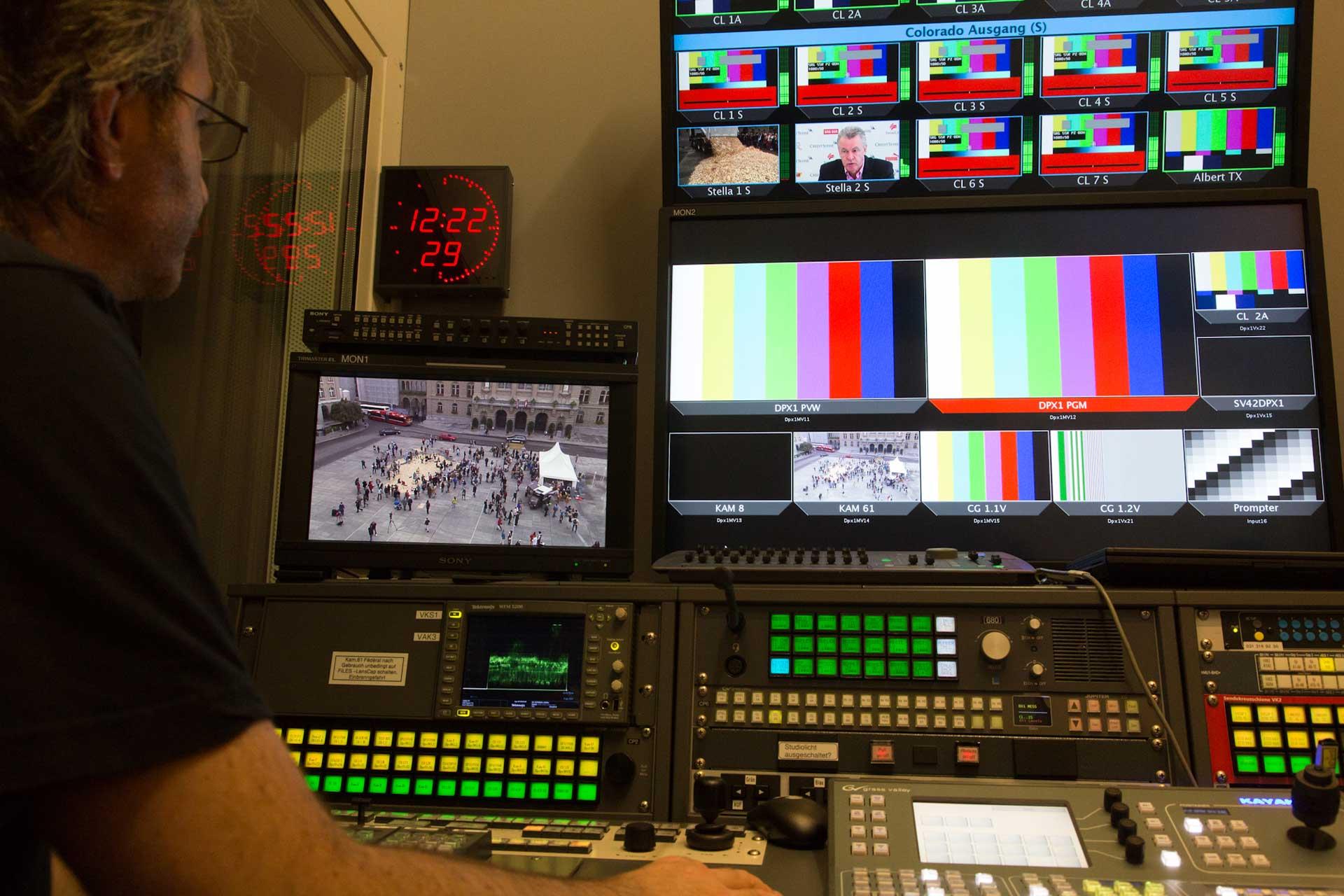 Das Bundeshaus-TV zeichnet alles auf...