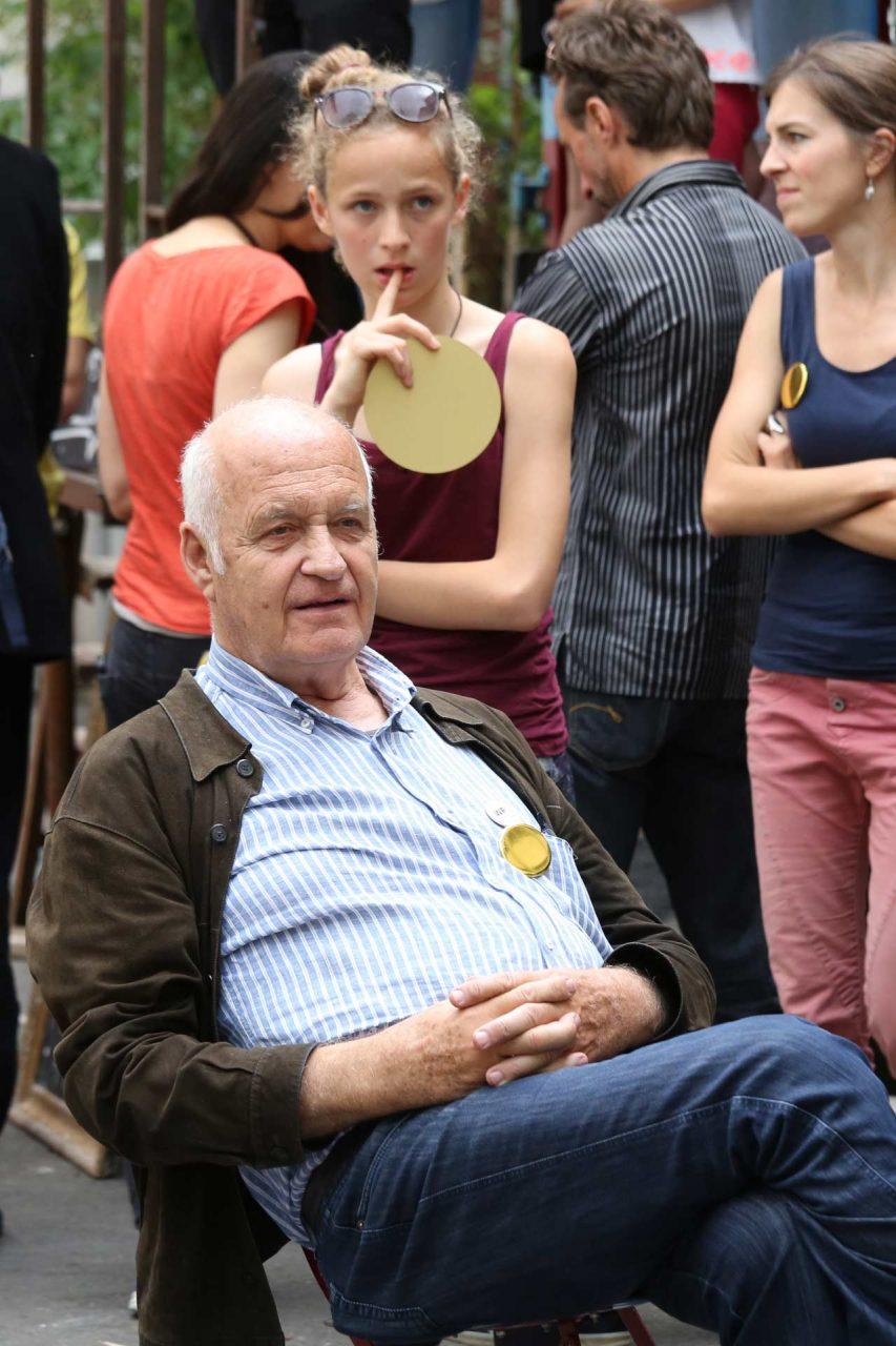 Götz Werner, einer der prominenten Unterstützer der Volksinitiative, scheint zufrieden