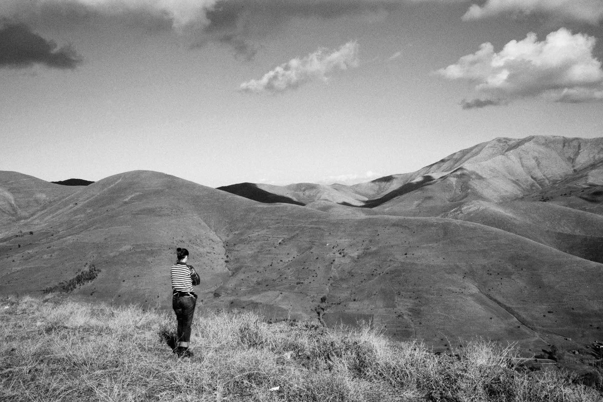 Die Landschaft in der Nähe von Bitlis.