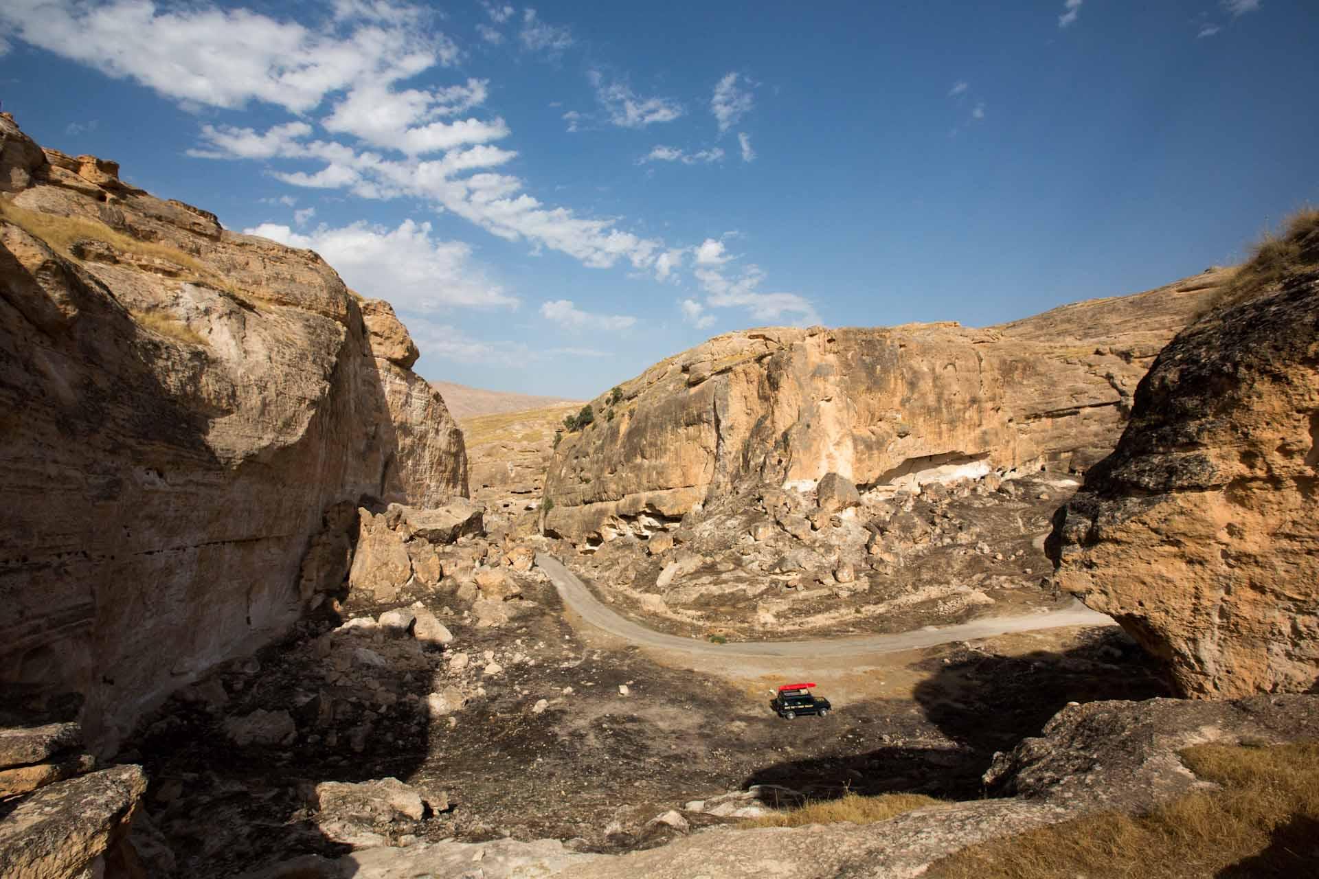 Das wild zerklüftete Hinterland des Tigris.