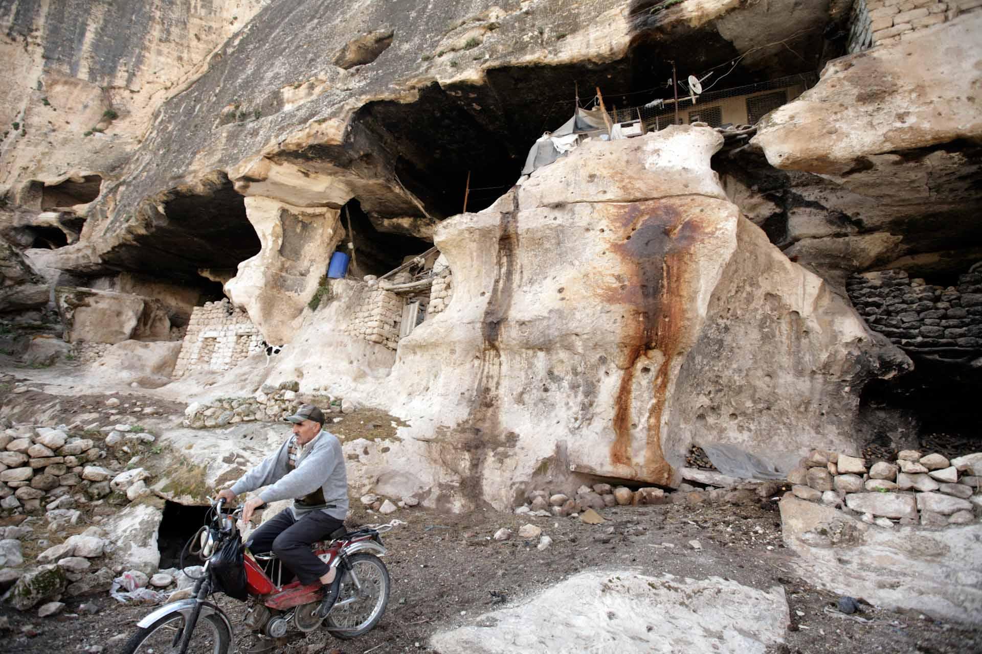 Einer der letzten Höhlenbewohner von Hasankeyf.