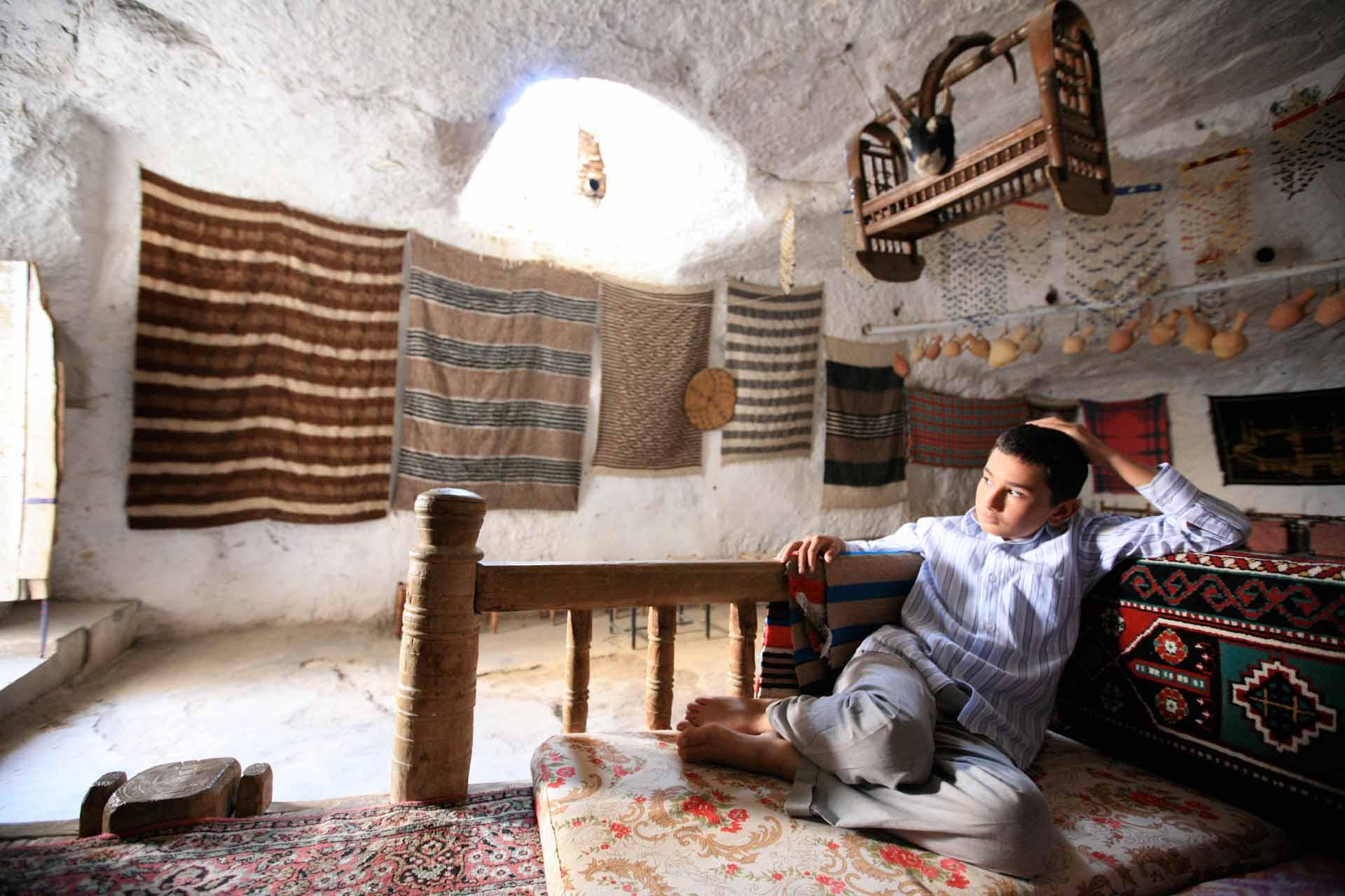 Jahrtausendelang lebten die Menschen der heute durch das Ilisu-Staudamm-Projekt bedrohten Stadt Hasankeyf in Höhlen wie dieser...