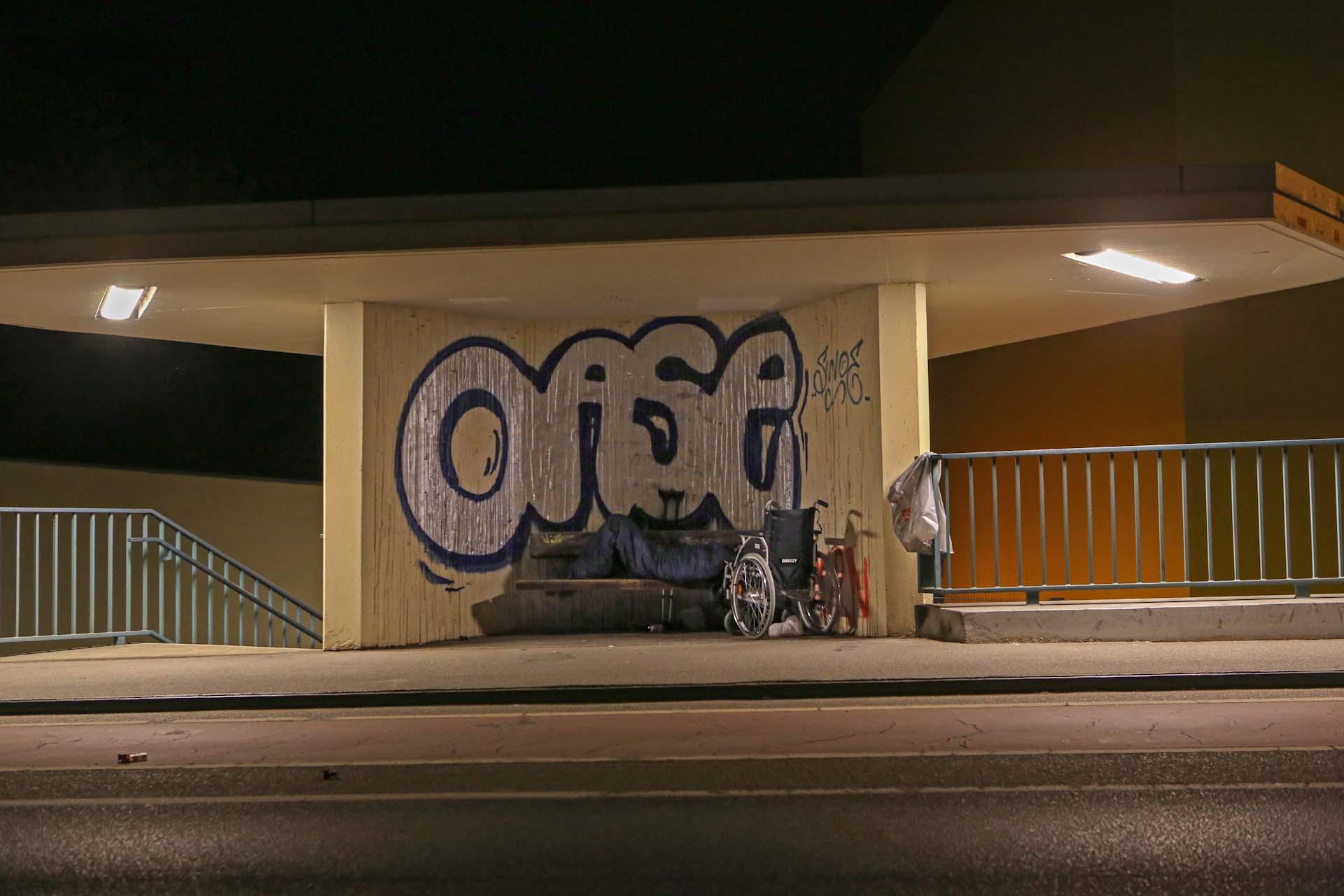Obdachlosigkeit in einer 'Oase' in Moabit.