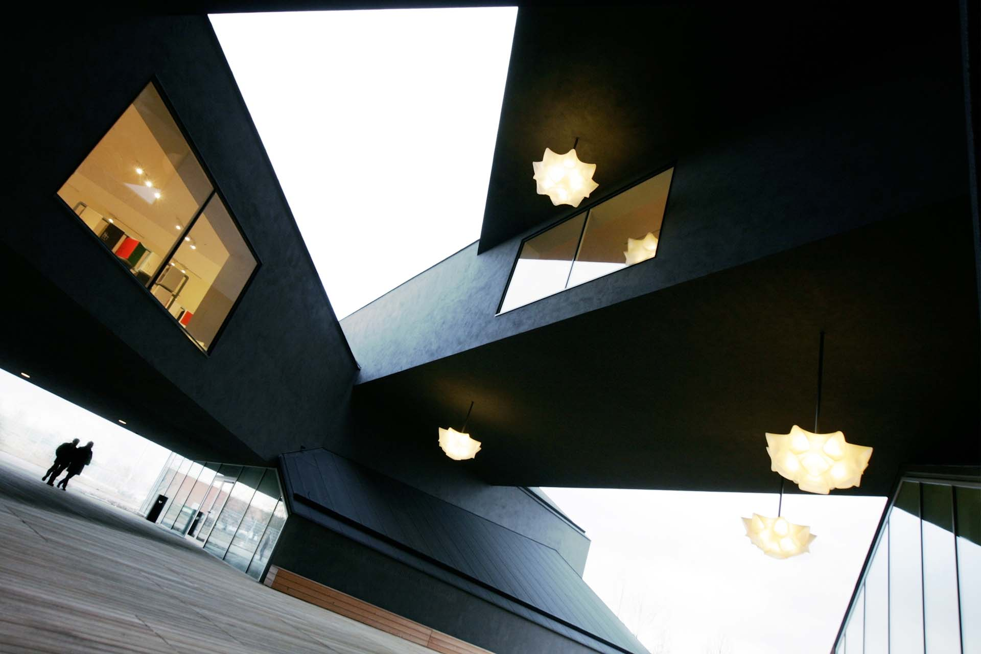 The entrance section of the Vitra Haus.