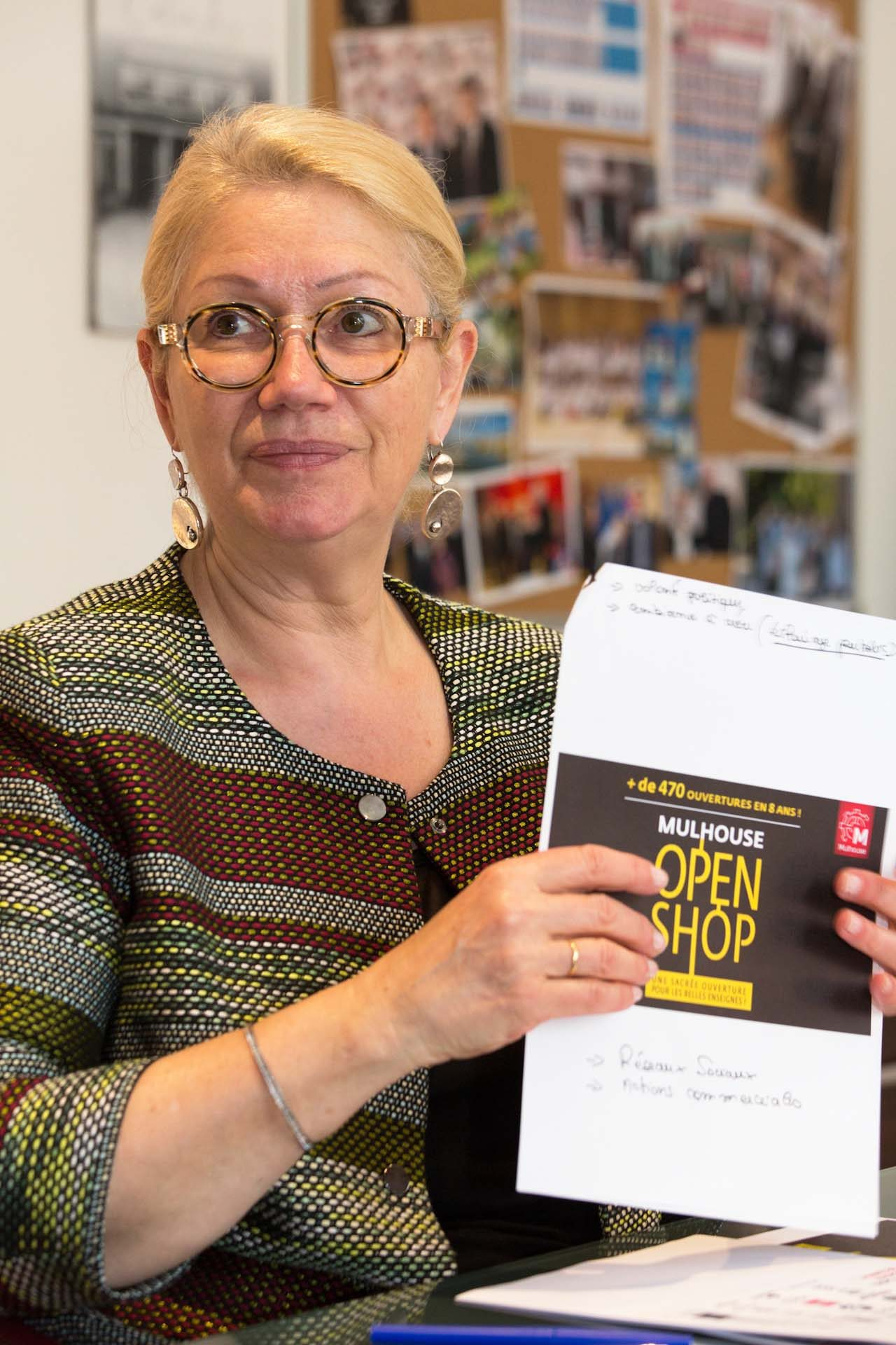 "In her town hall office, the mayor, Michèle Lutz, who once ran a hair salon in Mulhouse, says the town must now move into a second phase where the vibrancy of the centre extends to the surrounding neighbourhoods. ""The town centre is buzzing now, but we can't just concentrate on the small central perimeter, nor simply on shops – there has to be a vision of the town as a whole,"" she says."